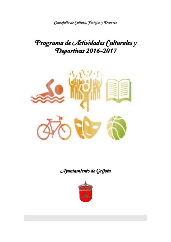 Programa de Actividades Culturales y Deportivas 2016-2017