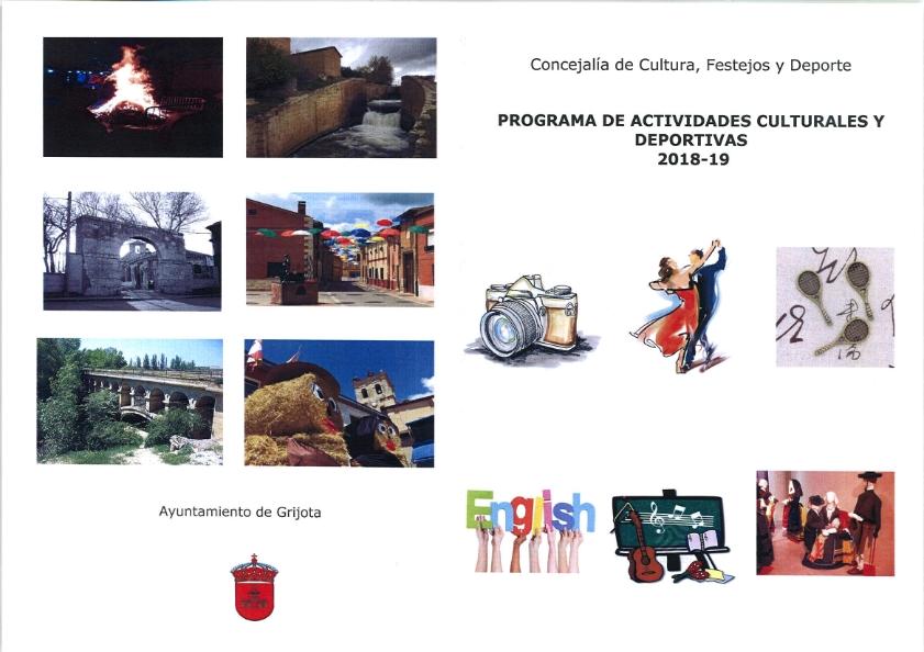 Programa de Actividades Culturales y Deportivas 2018