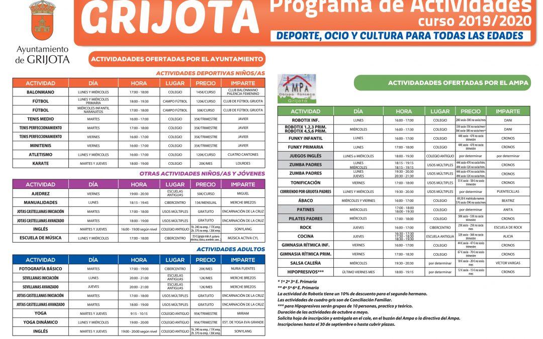 Programa de Actividades Curso 2019/2020