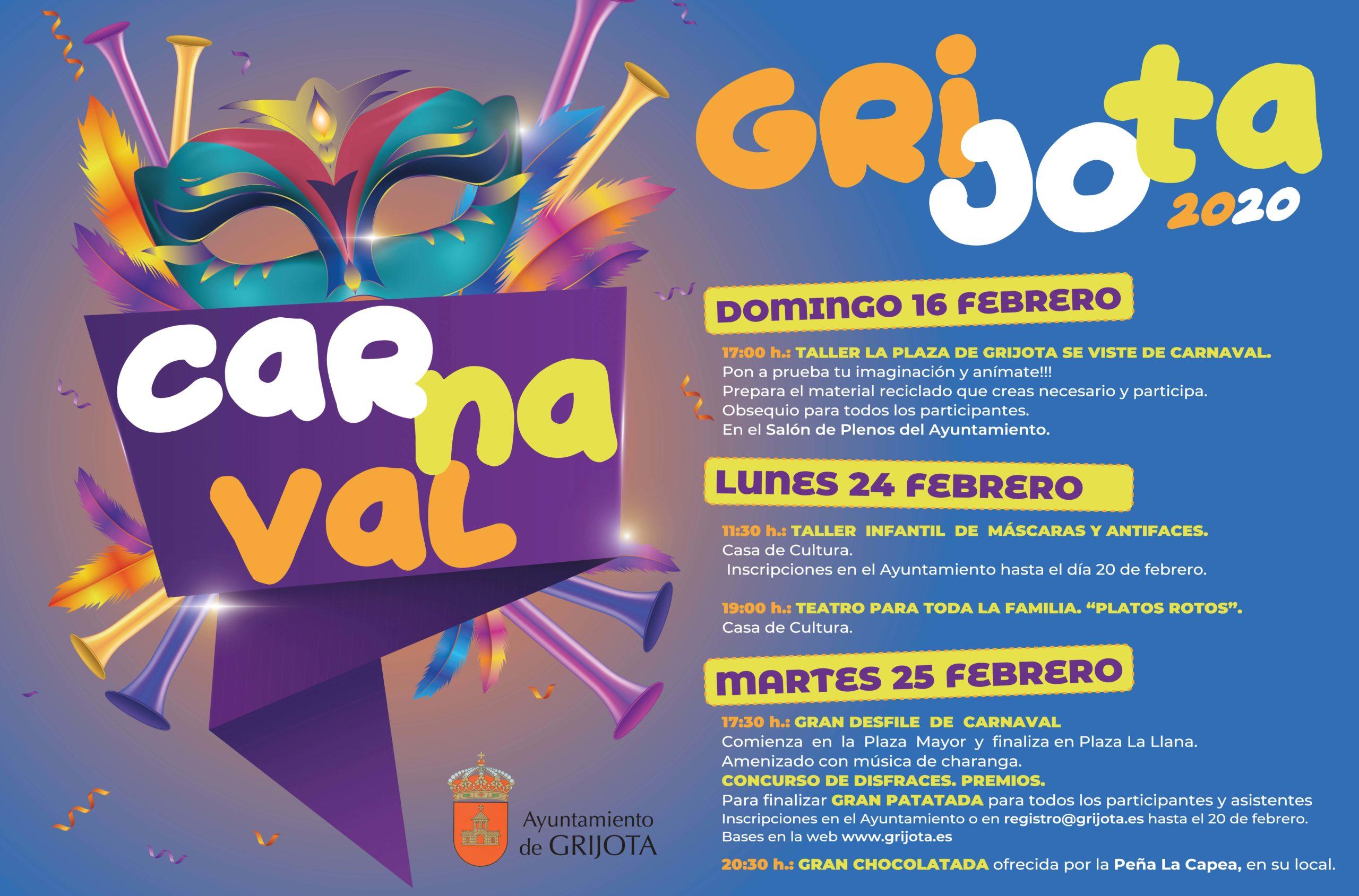 Nuevo Cartel Carnaval Grijota 2020